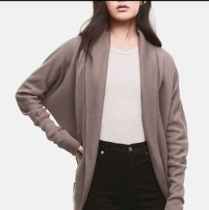 Aritzia Wilfred diderot light brown cardigan XXS